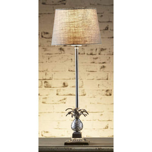 Caribbean Table Lamp Base Ant.Silver