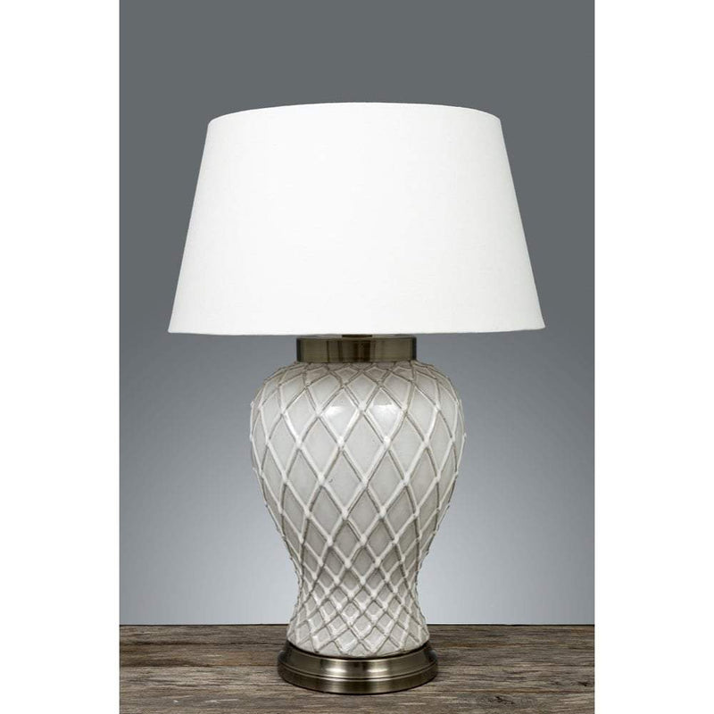 Berkley Vase Table Lamp Base with Metal Base
