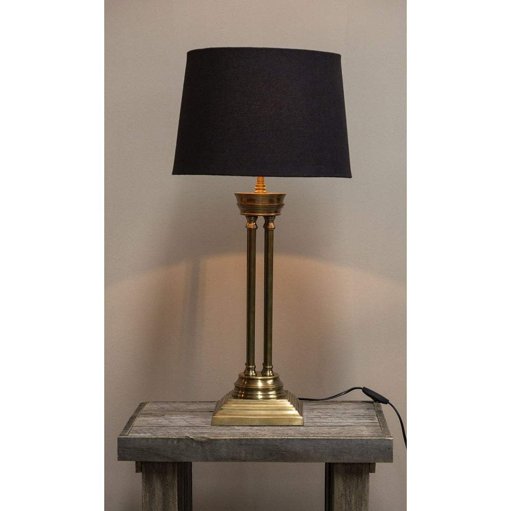 Hudson Table Lamp Base Antique Brass