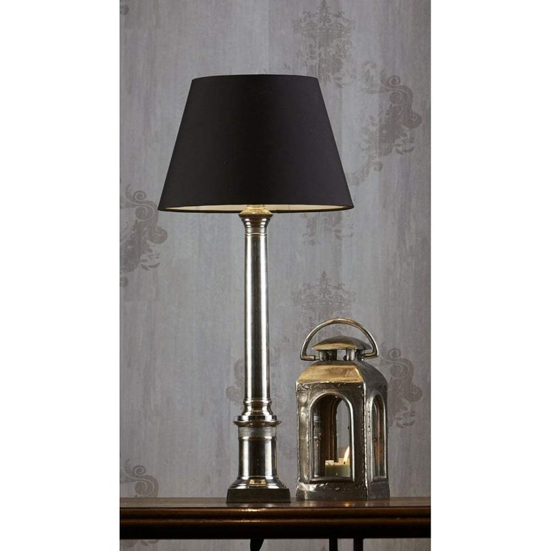 Wiltshire Table Lamp Base Antique Silver
