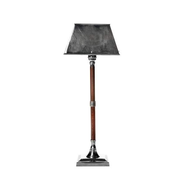 Jersey Table Lamp W/Shade Silver/Timber - House of Isabella AU