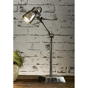 Seattle Desk Lamp Antique Silver