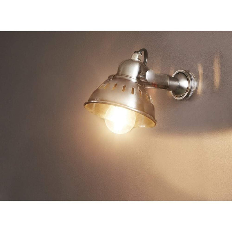 Bush Wall Lamp in Antique Silver