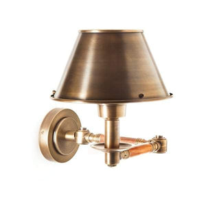 Benton Swing Arm Sconce Antique Brass