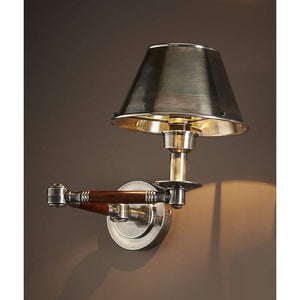 Benton Swing Arm Sconce Antique Silver