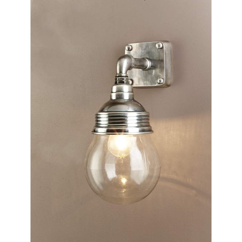 Dover Wall Lamp in Antique Silver