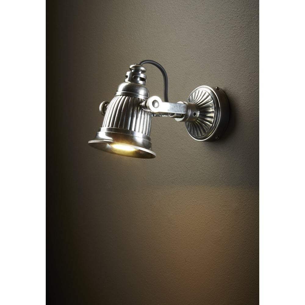 Caledonia Wall Lamp in Silver