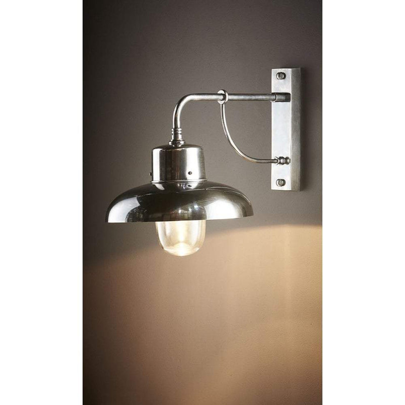 Bridgewater Wall Lamp Outdoor Silver