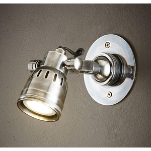 Seattle Short Arm Wall Light Antique Silver