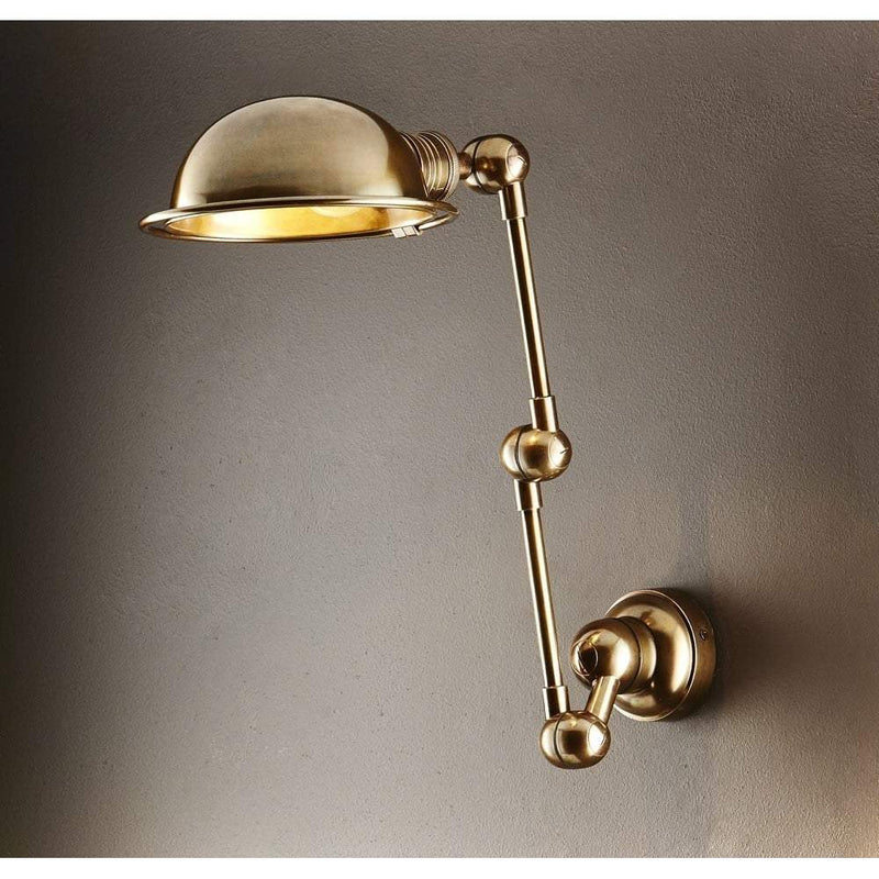 Lincoln Swing Arm Sconce Brass - House of Isabella AU