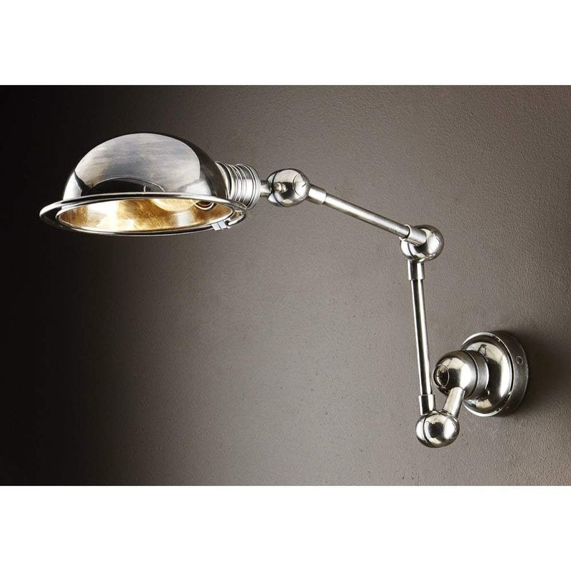 Lincoln Swing Arm Wall Sconce Antique Silver