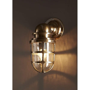 Porto Wall Lantern Antique Brass