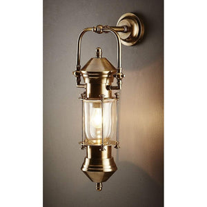 Lisbon Ship Lantern Antique Brass