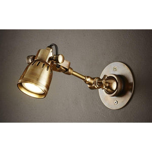 Seattle Long Arm Wall Light Ant Brass
