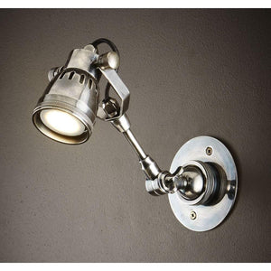 Seattle Long Arm Wall Light Ant Silver