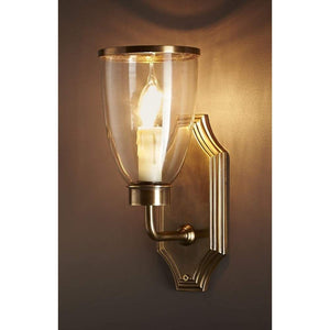 Westbrook Wall Lamp with Brass/Glass Shade