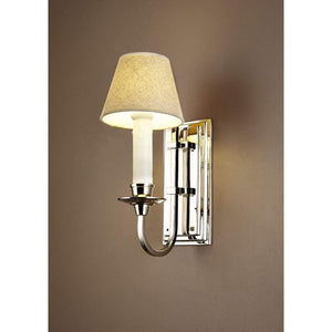 East Borne Wall Light in Shiny Nickel