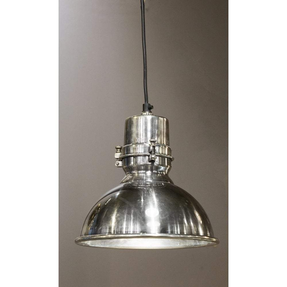Augusta Medium Hanging Lamp in Silver - House of Isabella AU