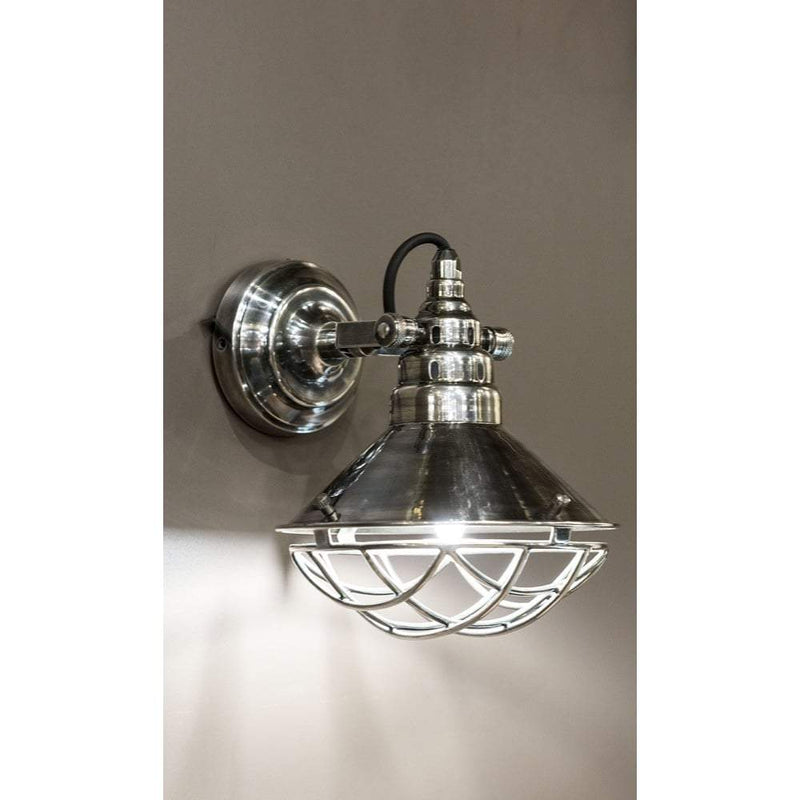 Twain Wall Lamp In Silver - House of Isabella AU