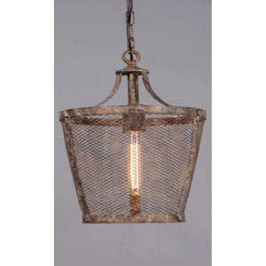Fabio Large Hanging Lamp in Rustic
