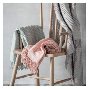 Linear Pleat Throw Blush W1300 x H1800mm