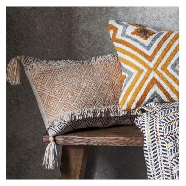 Hansa Cushion Ochre W500 x H300mm - House of Isabella AU