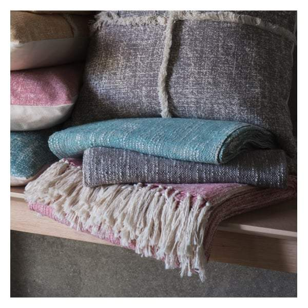 Surat Fringed Throw Blush W1300 x H1700mm - House of Isabella AU