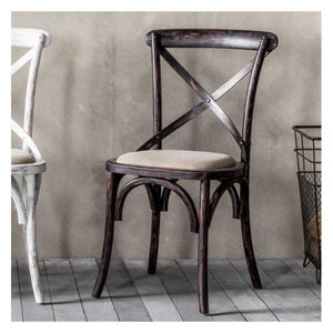 Cameroon Chair Black (2pk) W500 x D500 x H890mm