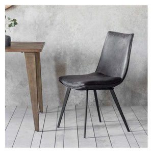 Herne Chair Grey (2pk) W460 x D600 x H870mm