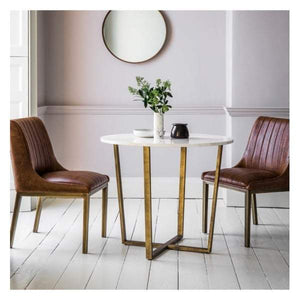 Chester Round Dining Table Marble W900 x D900 x H750mm