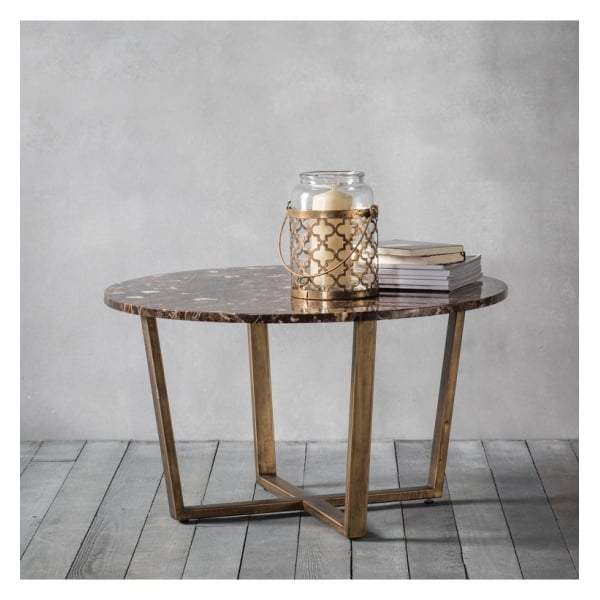 Essen Round Coffee Table Marble W800 x D800 x H460mm - House of Isabella AU
