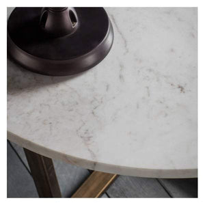 Chester Round Coffee Table Marble W800 x D800 x H460mm