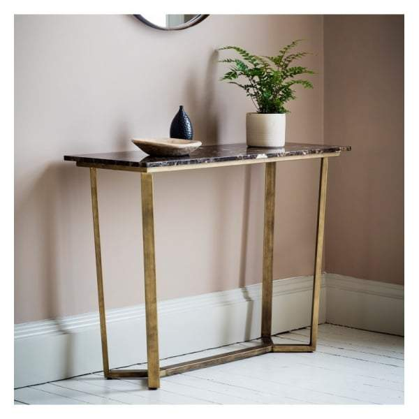 Essen Console Table Marble W1100 x D400 x H800mm - House of Isabella AU
