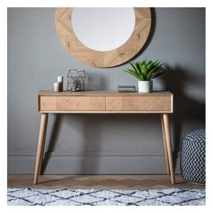 Madina 2 Drawer Console Table W1200 x D380 x H800mm