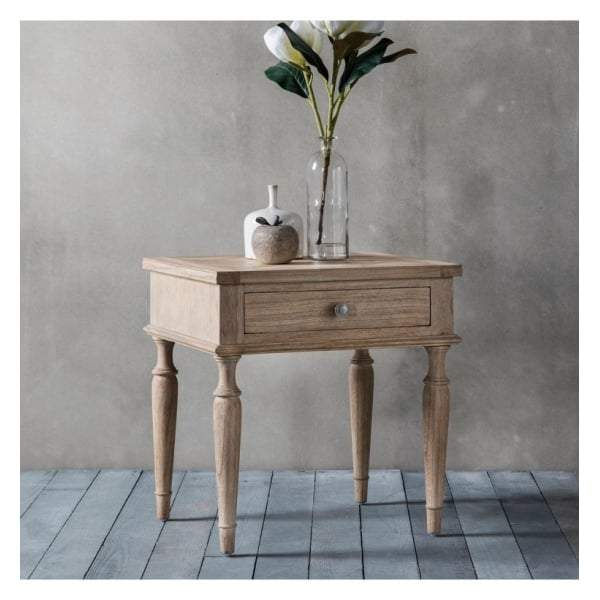 Makassar 1 Drawer Side Table W530 x D450 x H560mm - House of Isabella AU