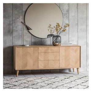 Madina 2 Door / 3 Drawer Sideboard W1600 x D450 x H700mm
