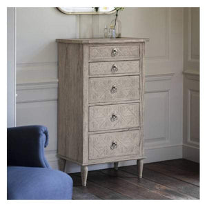 Makassar 5 Drawer Lingerie Chest W600 x D450 x H1150mm