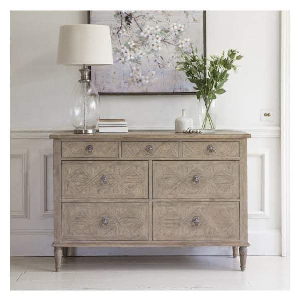 Makassar 7 Drawer Chest W1300 x D450 x H885mm - House of Isabella AU