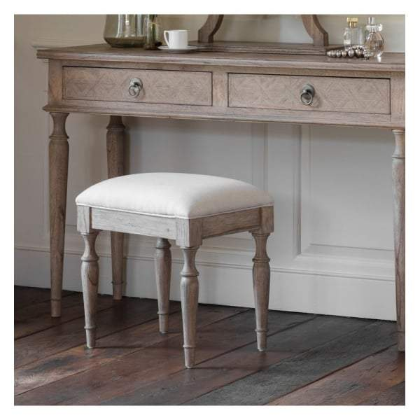 Makassar Dressing Stool W440 x D340 x H450mm - House of Isabella AU