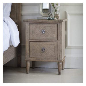 Makassar 2 Drawer Bedside Table W500 x D400 x H665mm