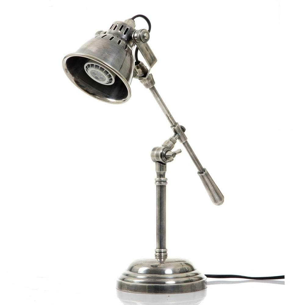 Newcastle Table Lamp Antique Silver
