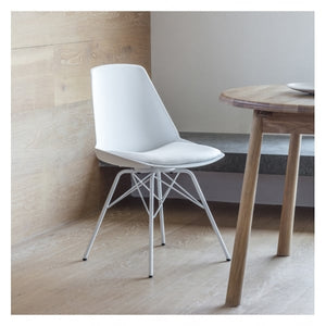 Forli Chair White (4pk) W480 x D525 x H835mm
