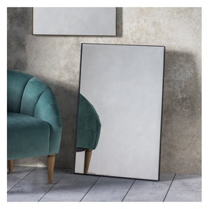 Hanam Mirror Black W600 x D30 x H900mm