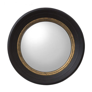 London Black Convex Mirror Small