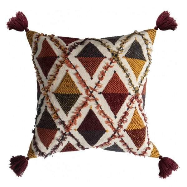 Picchu Embroidered Cushion Multi - House of Isabella AU