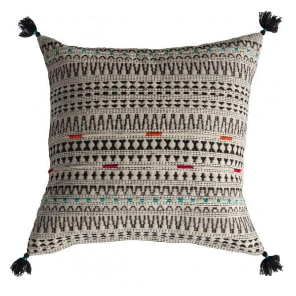 Meccah Embroidered Cushion Multi - House of Isabella AU