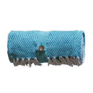 Cotton Diamond Throw Teal