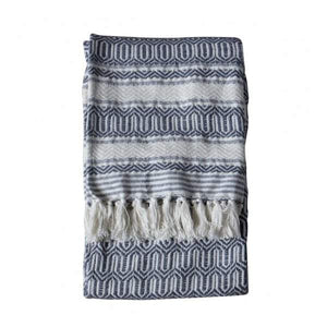 Elmer Cotton Slub Throw Slate Grey