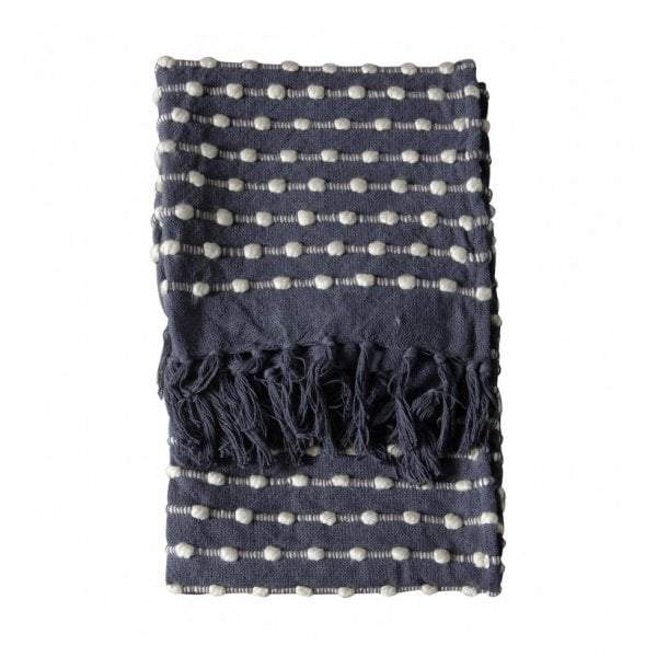 Julio Loop Throw Black/Cream - House of Isabella AU
