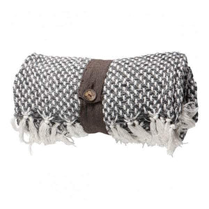 Cotton Cubic Throw Grey